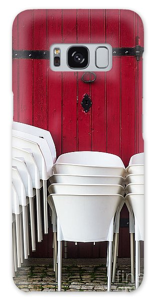 Street Cafe Galaxy Case - White Chairs by Carlos Caetano