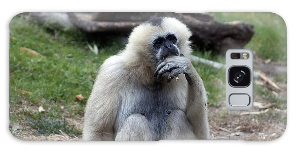 White-cheeked Gibbon - 0015 Galaxy Case by S and S Photo