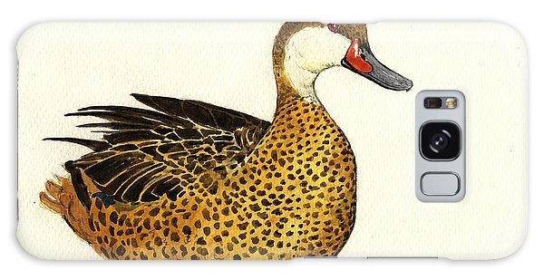 Duck Galaxy Case - White Cheeked Pintail by Juan  Bosco