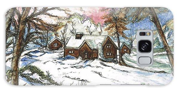 White Christmas Galaxy Case by Teresa White