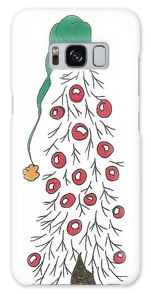 White Christmas Tree 2 Galaxy Case