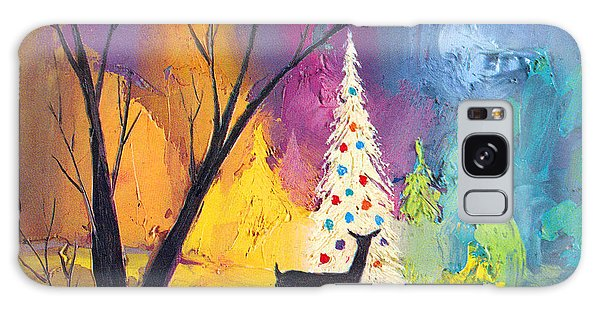 White Christmas Tree Galaxy Case