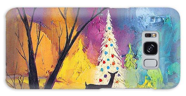 White Christmas Tree Galaxy Case