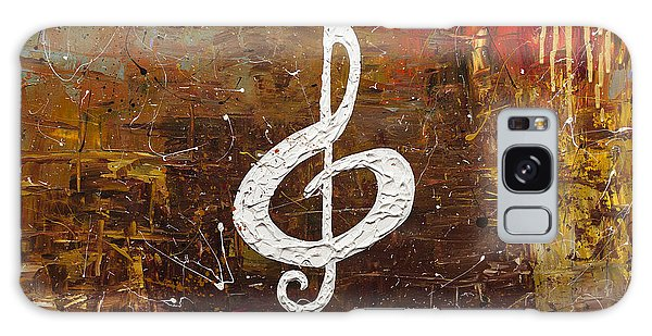 White Clef Galaxy Case by Carmen Guedez