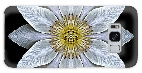 White Clematis Flower Mandala Galaxy Case