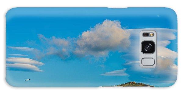 White Clouds Form Tornado Galaxy Case