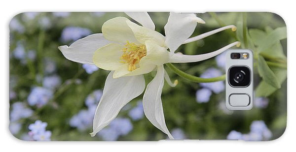 White Columbine Galaxy Case