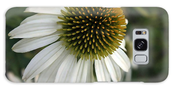 White Coneflower Galaxy Case by Ellen Tully