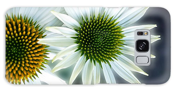 White Conehead Daisy Galaxy Case by Arlene Carmel