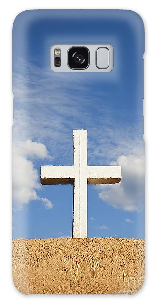 White Cross On Adobe Wall Galaxy Case