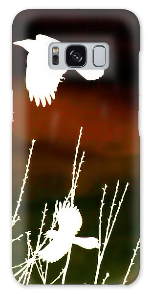 White Crow And The Bluejay Galaxy Case