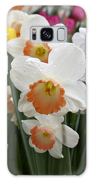 White Daffodils Galaxy Case
