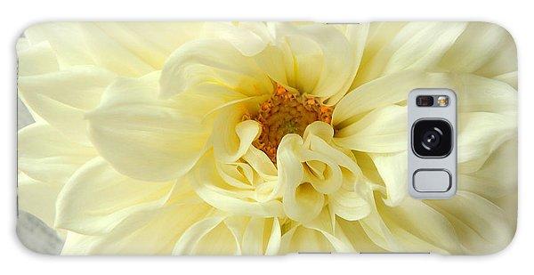 White Dahlia Galaxy Case by Olivia Hardwicke