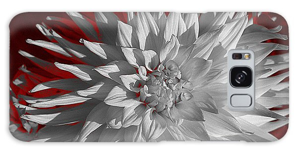 White Dahlia Galaxy Case by Richard Farrington