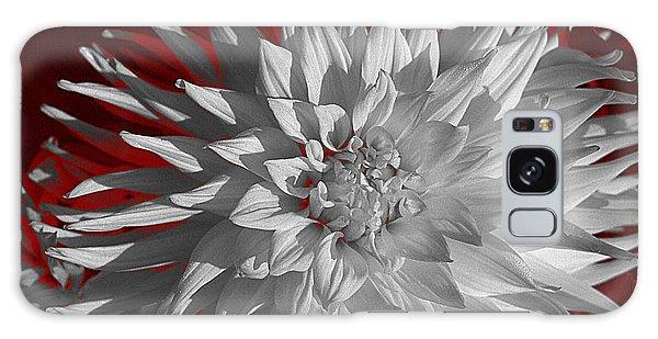 White Dahlia Galaxy Case by Richard Farrington