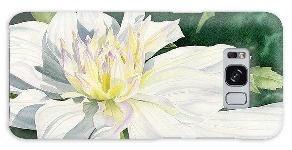 White Dahlia - Transparent Watercolor Galaxy Case