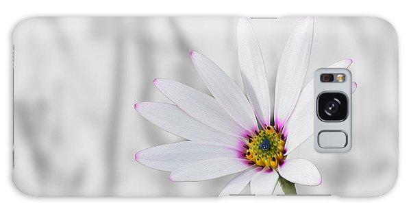 White Daisy Bush Galaxy Case