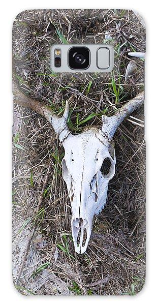 White Deer Skull In Grass Galaxy Case