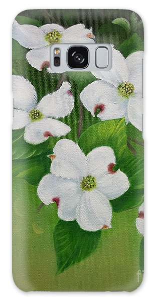 White Dogwoods Galaxy Case