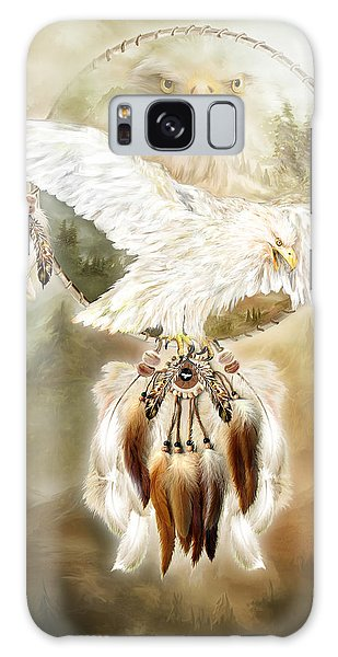 Galaxy Case featuring the mixed media White Eagle Dreams by Carol Cavalaris