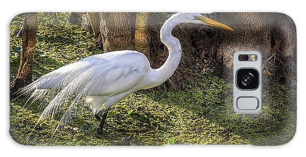 Egret Galaxy Case - White Egret On The Hunt by Marvin Spates