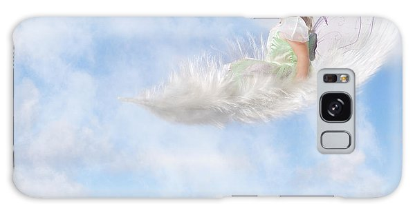 White Feather Dream Galaxy Case