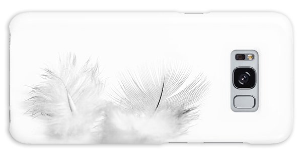 White Feathers Galaxy Case