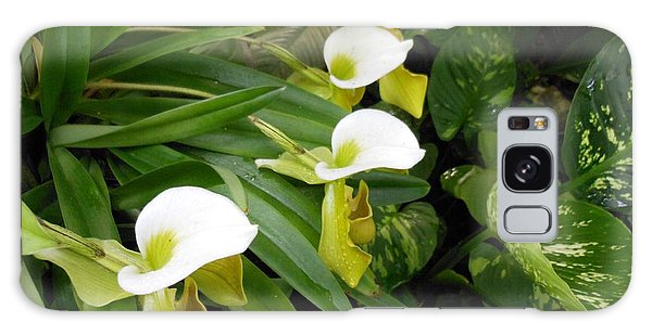White Flower Array Galaxy Case