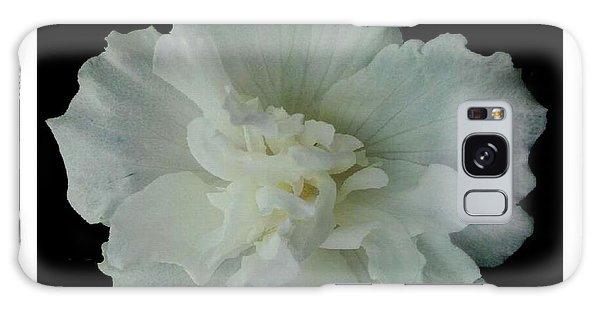 White Flower By Saribelle Rodriguez Galaxy Case by Saribelle Rodriguez