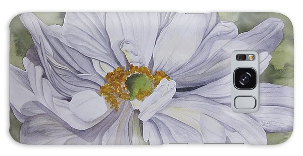 White Flower Companion Galaxy Case