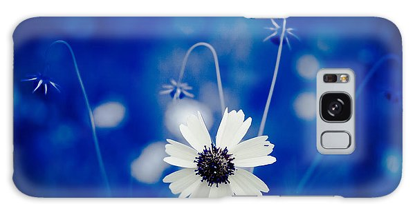 White Flower Galaxy Case by Darryl Dalton