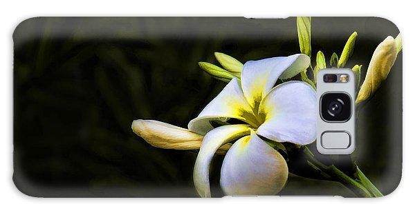 White Flower Galaxy Case by Don Durfee