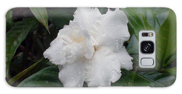 White Flower Galaxy Case by Sergey Lukashin