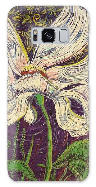 White Flower Series 6 Galaxy Case