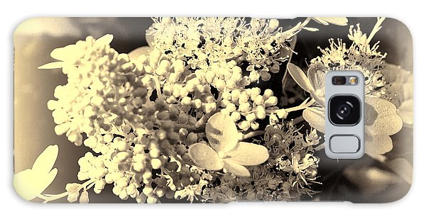 Galaxy Case featuring the photograph white flower SV by Leif Sohlman