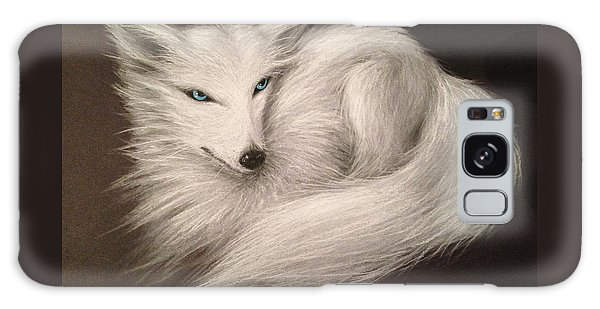 White Fox Galaxy Case by Patricia Lintner