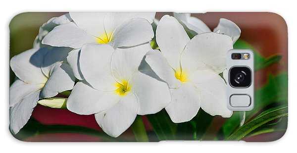 White Frangipani Galaxy Case