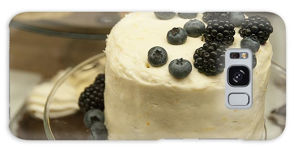 White Frosted Cake With Berries Galaxy Case