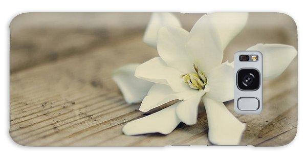 Gardenia Galaxy Case - White Gardenia by Heather Applegate
