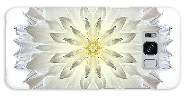 Giant White Dahlia I Flower Mandala White Galaxy Case
