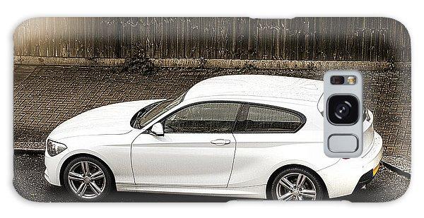 White Hatchback Car Galaxy Case