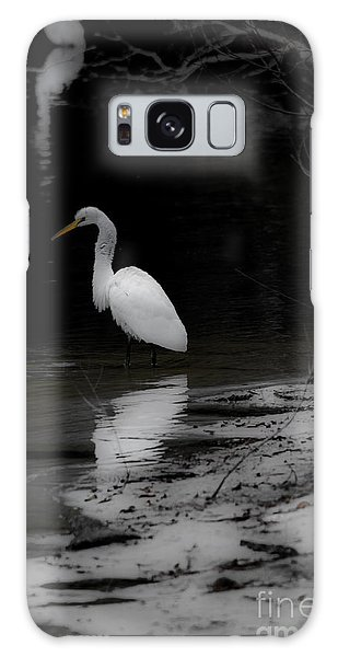 White Heron Galaxy Case by Angela DeFrias