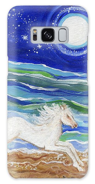 White Horse Of The Sea Galaxy Case