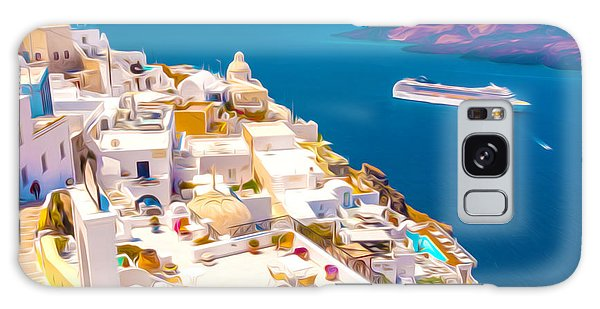 White Houses Of Santorini Galaxy Case