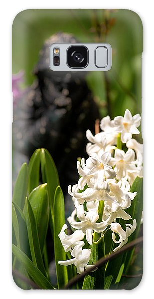 White Hyacinth In The Garden Galaxy Case