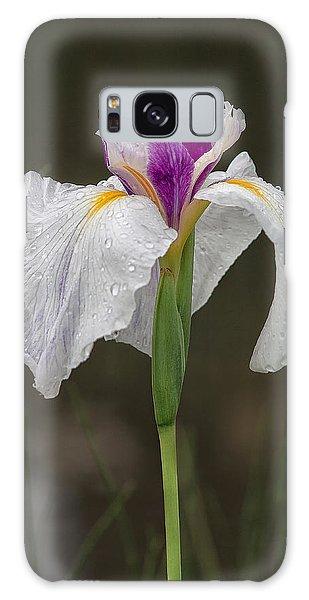 White Iris Galaxy Case by Shirley Mitchell