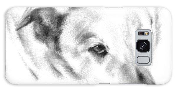 White Labrador Galaxy Case by Natasha Denger