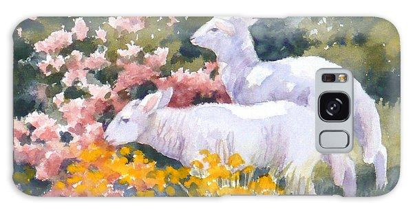 White Lambs In Scotland Galaxy Case