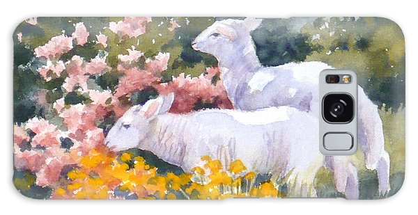 White Lambs In Scotland Galaxy Case