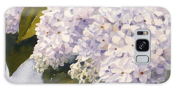 White Lilacs Galaxy Case